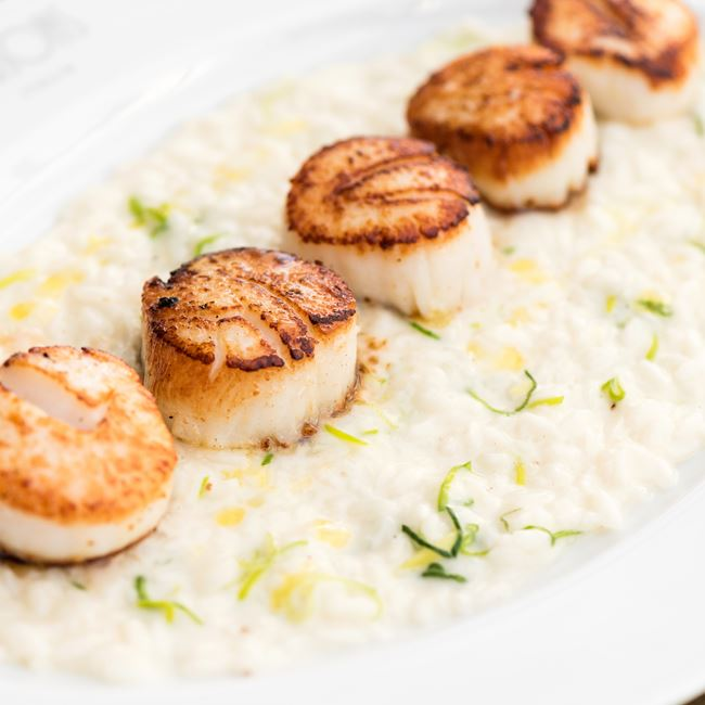 Sea Scallops at Gibsons Italia