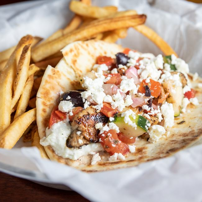 Chicken Gyro at The Ruby Owl Tap Room