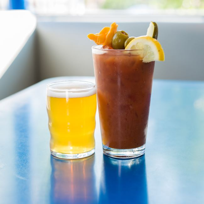 Bloody Mary at Monty's Blue Plate Diner