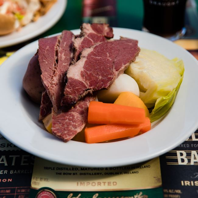 Corned Beef & Cabbage at Kitty O'Reillys Irish Pub