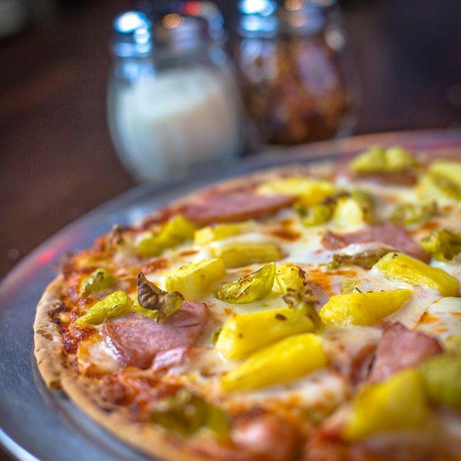 The Hawaiian Pizza at Jackson's Blue Ribbon Pub