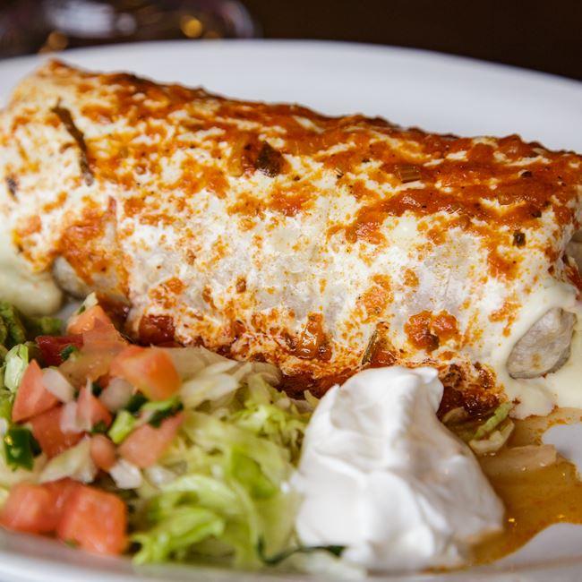 Burrito Grande at Lalo's Mexican Restaurant
