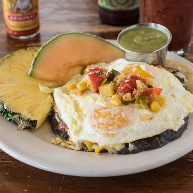 Huevos Rancheros de la Daisy at Daisy Cafe and Cupcakery