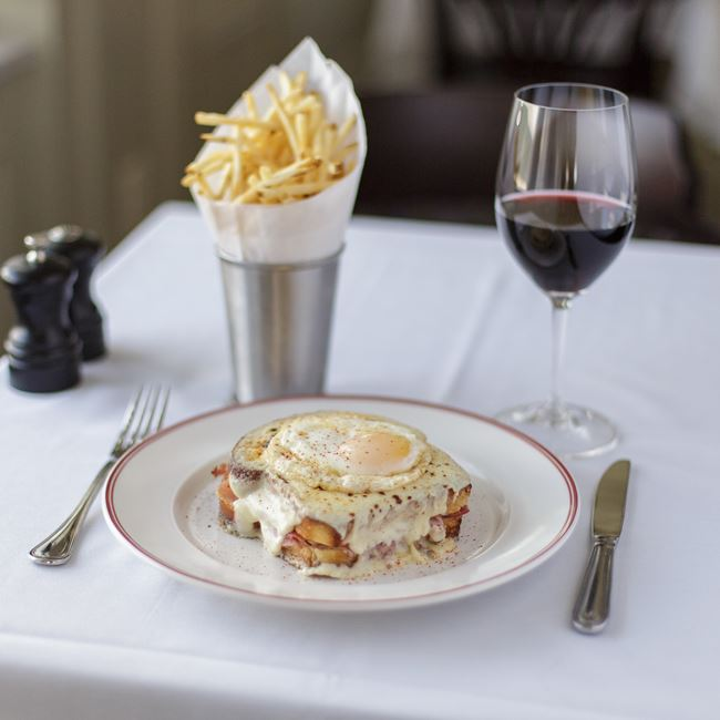 Croque Madame at Café Grace
