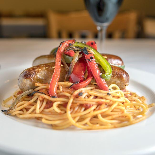 Sausage Pepper Pasta at Benvenuto's Italian Grill