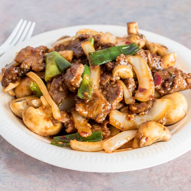Mongolian Beef at Happy Wok
