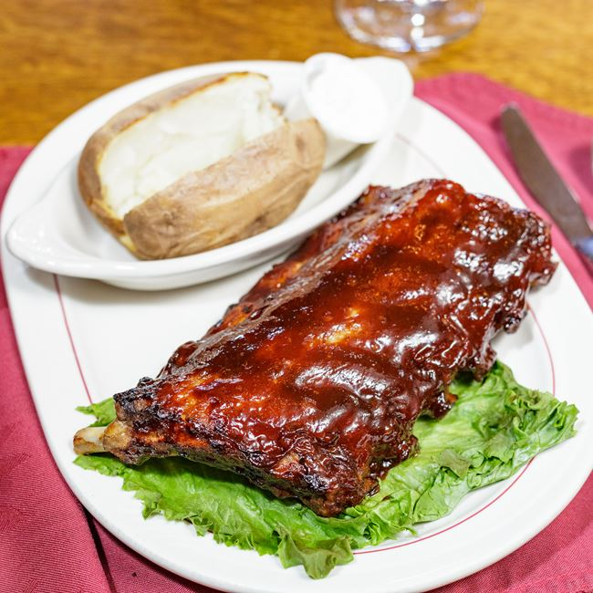 Half Rack of Barbecued Back Ribs at Polecat & Lace