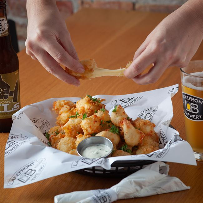 Award-Winning Fried Cheese Curds at Lakefront Brewery