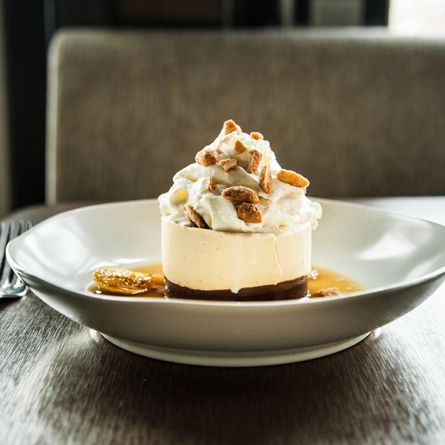 Banana Crème Brulee Pie at Root Down