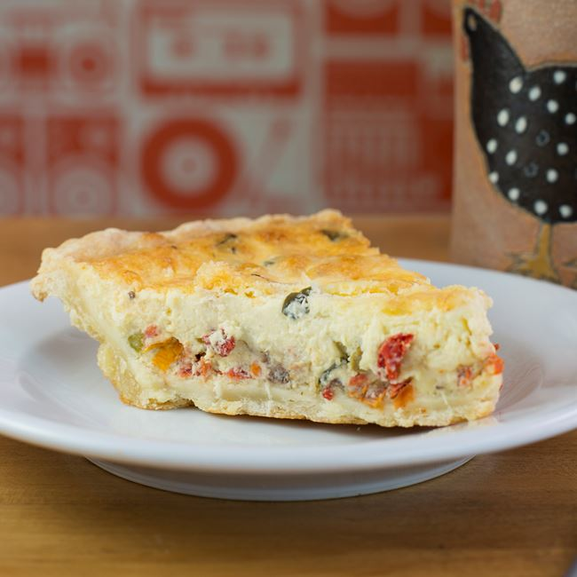 Daily Quiche at Analog Ice Cream and Coffee