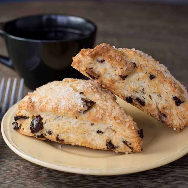 Almond Cherry Scone at Skip Stone Coffee Roasters