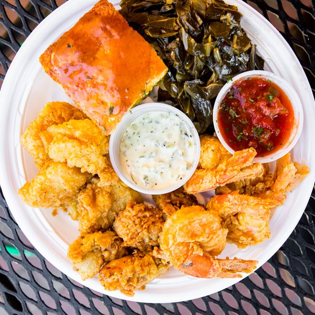 Seafood Combo Basket at Big Herm's Kitchen