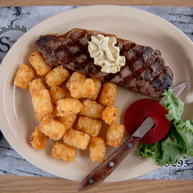 8oz New York Strip Steak at Samuelson's Creek Pub And Grill