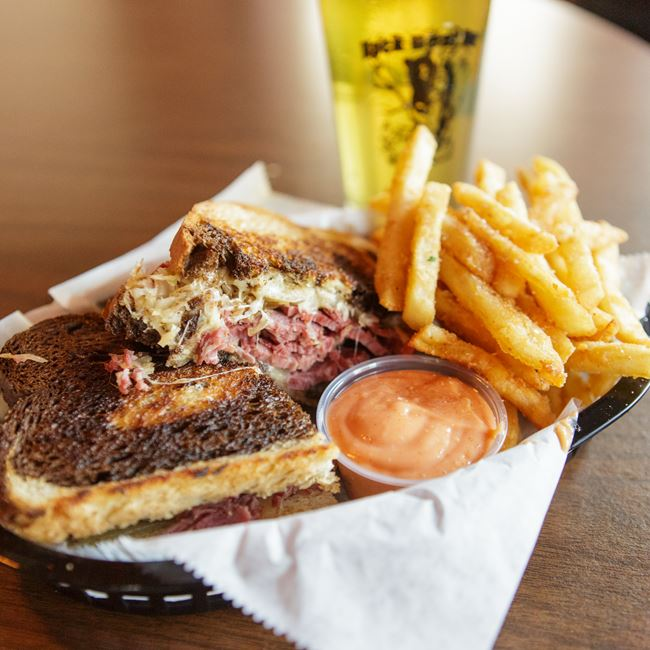 Black Bear Reuben Sandwich at Black Bear Bar
