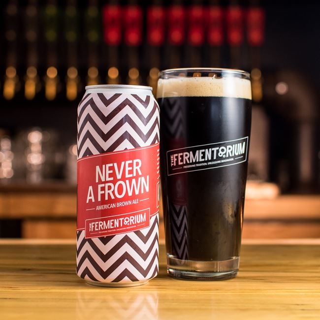 Never a Frown Brown at The Fermentorium Brewery and Tasting Room