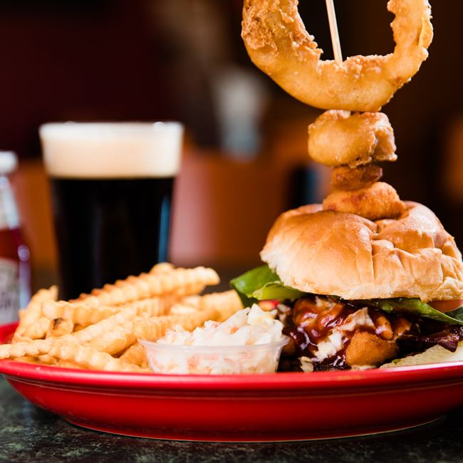 The BBQ Renard Burger at Mojo Rosas