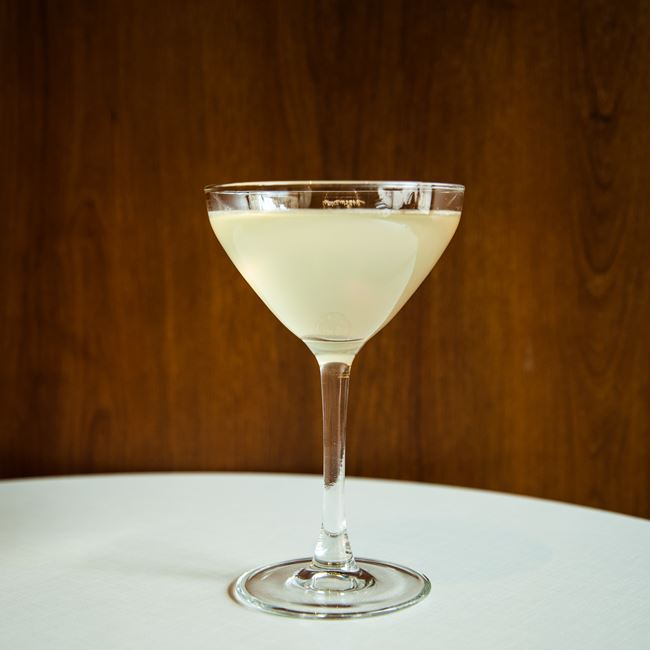 Gimlet at The Corner Office Restaurant + Martini Bar