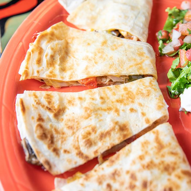 Chicken Fajita Quesadilla at South of the Border