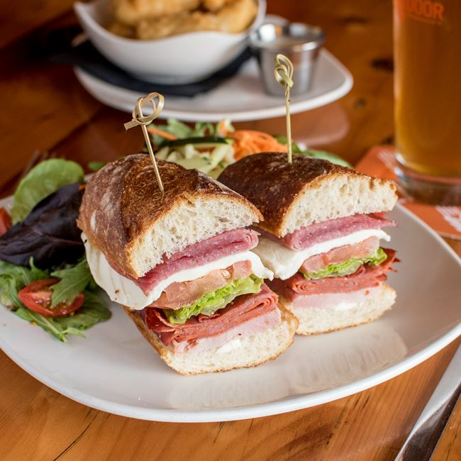 Hot Italian Sandwich at Next Door Brewing Company