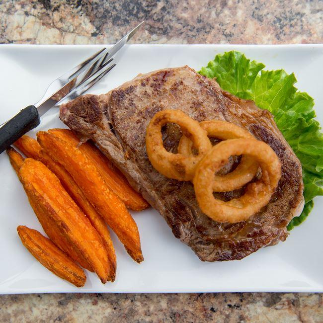 Ribeye Steak at Mr G's Logan Creek Grille