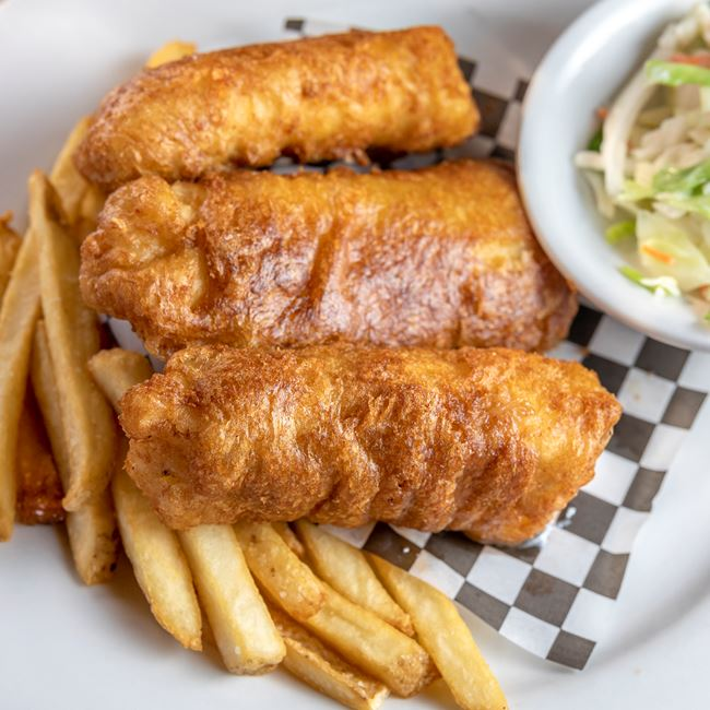 Scottish Ale Fish and Chips at Fox River Brewing Company Waterfront Restaurant