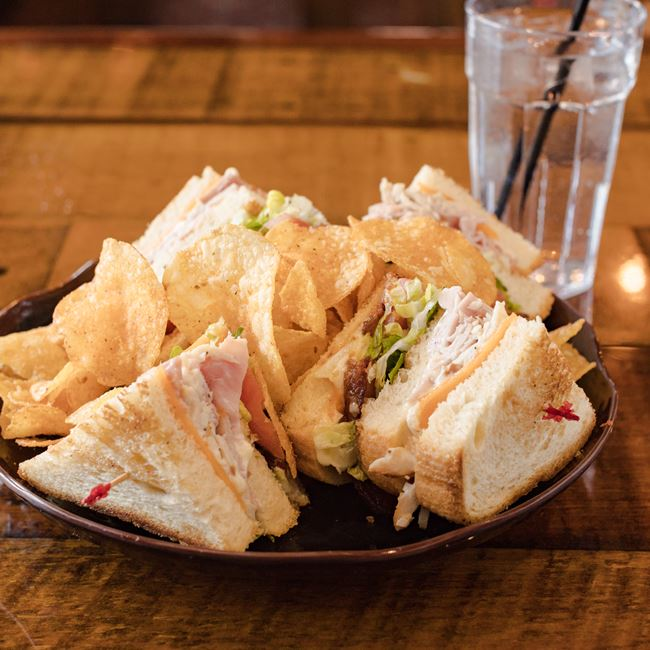 Jack's Club Sandwich at Cowboy Jack's Saloon