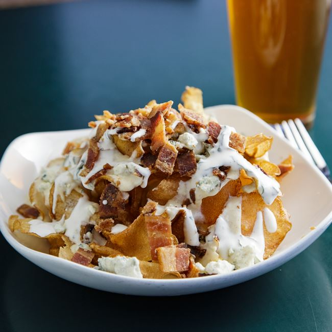Pub Chip Nachos at Jacs Dining and Taphouse