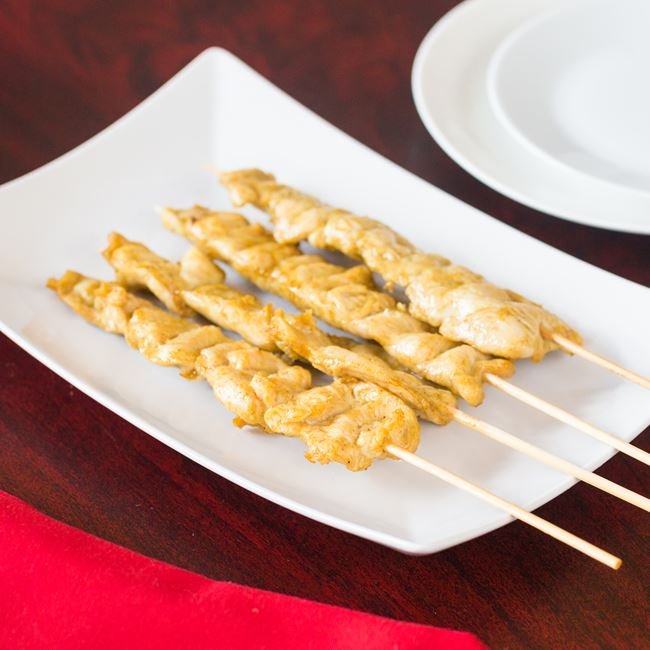 Chicken on a Stick at New Fortune Asian Cuisine