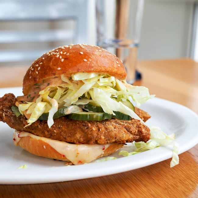 Fried Chicken Sandwich at Graze