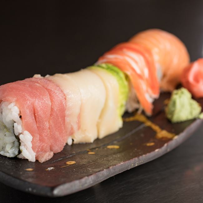 Rainbow Roll at Sakura Sushi Depot