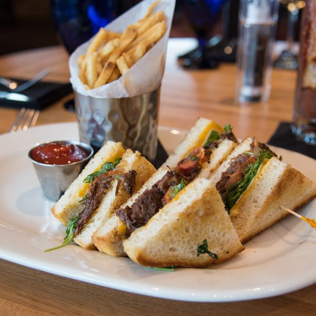 Short Rib Grilled Cheese at Bonfyre American Grille