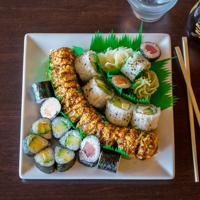 Sushi Rolls at Metcalfe's Market