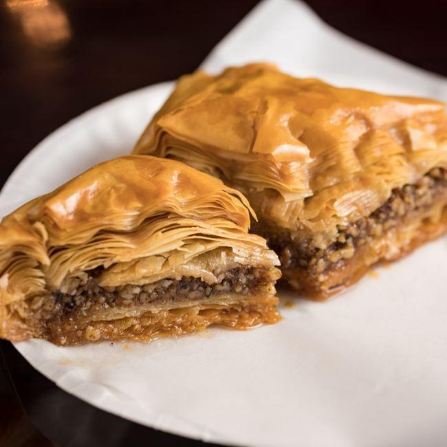 Baklava at Mamoun's Falafel Restaurant