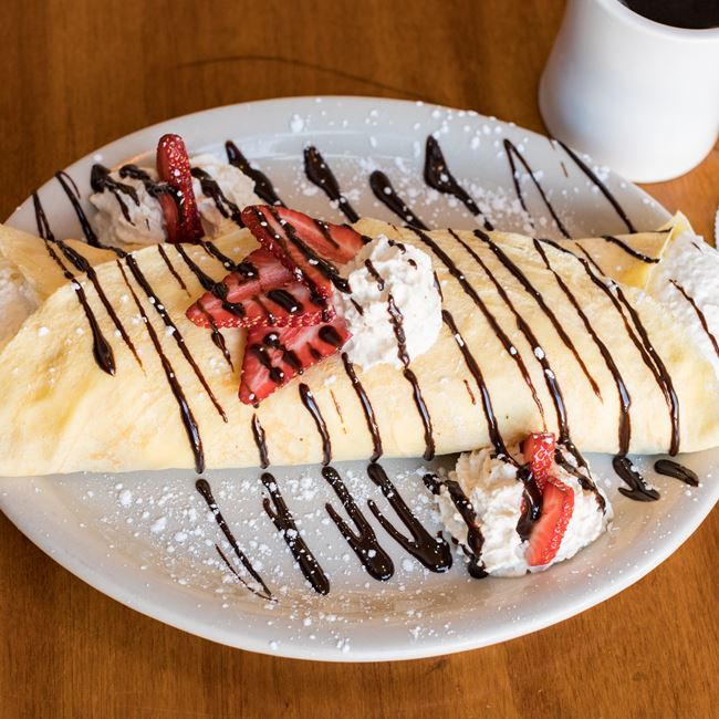 Strawberry Nutella Crêpe at The Nucleus