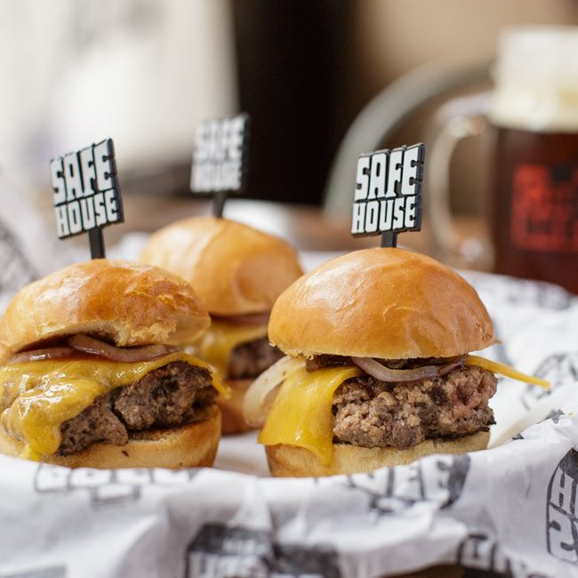 Spy Sliders at SafeHouse