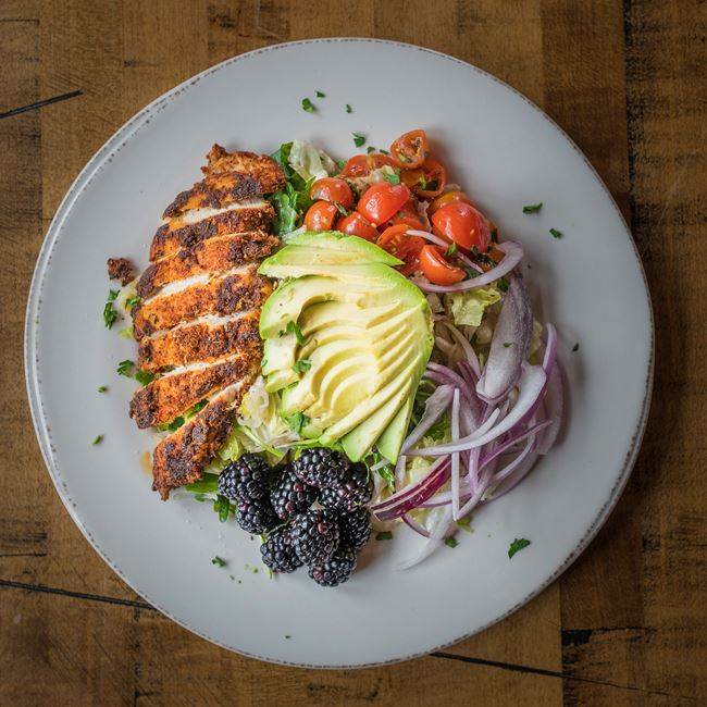 Blackberry Chicken Avocado Salad