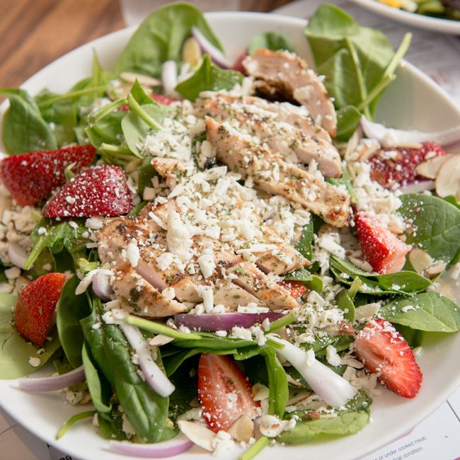 Strawberry Spinach Salad at Coyote Roadhouse