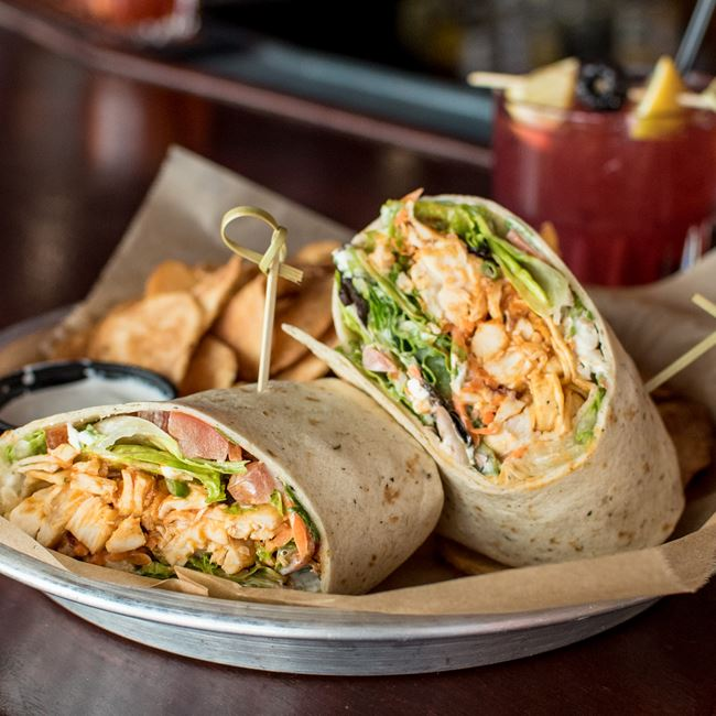 Billy's Buffalo Chicken Wrap at SCONNIEBAR