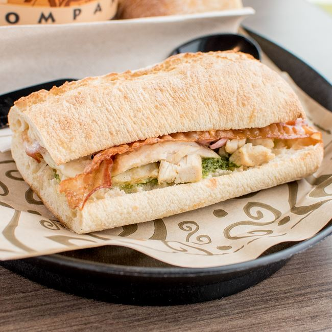 Chicken Toscana Sandwich at Zoup!