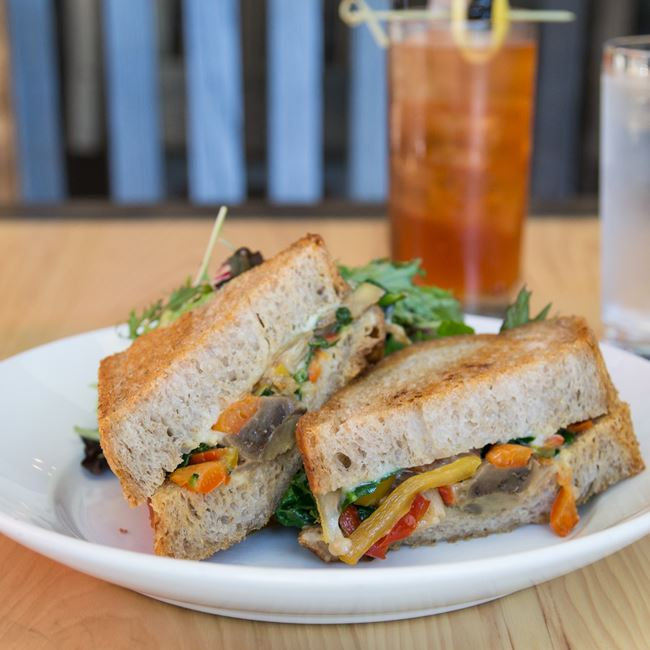 Ratatouille and Spinach Sandwich at Oliver's Public House
