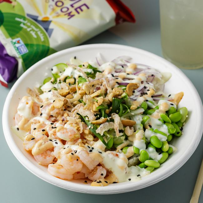 Shrimp Spicy Style Poke Bowl  at Miko Poke