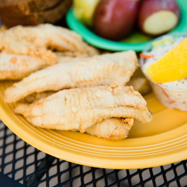 Grilled Lake Perch at The Viking Grill and Lounge