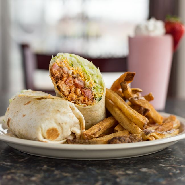 Buffalo Chicken B.L.T. Wrap at North Ave Grill