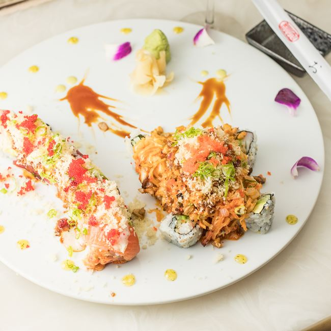 Volcano Roll and Tiger Roll at Ninja Japanese and Chinese Restaurant