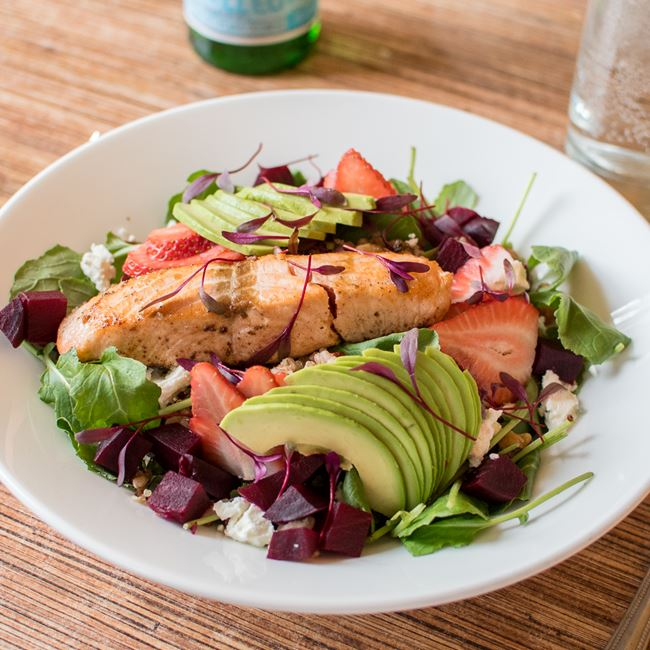 Salmon Salad at Villa Dolce Cafe