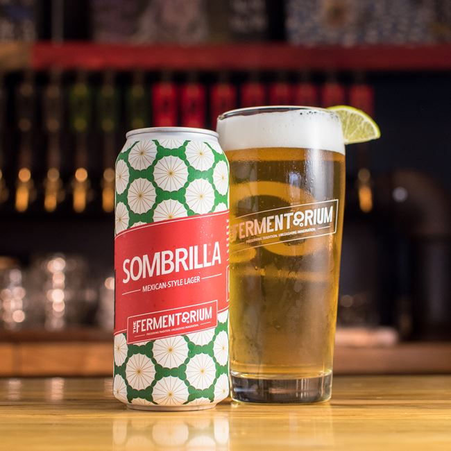 Sombrilla Mexican Lager at The Fermentorium Barrel House
