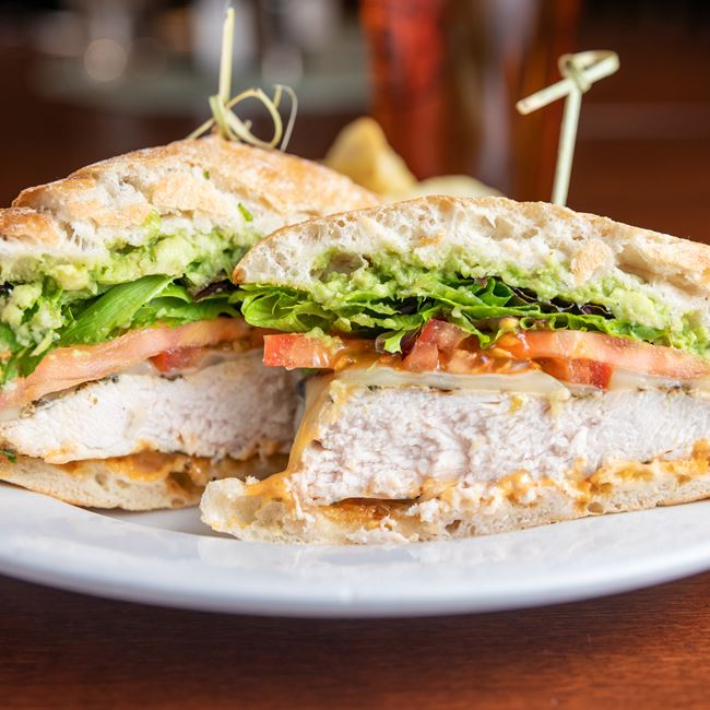 Chipotle Chicken Sandwich at Gardina's Wine Bar and Cafe