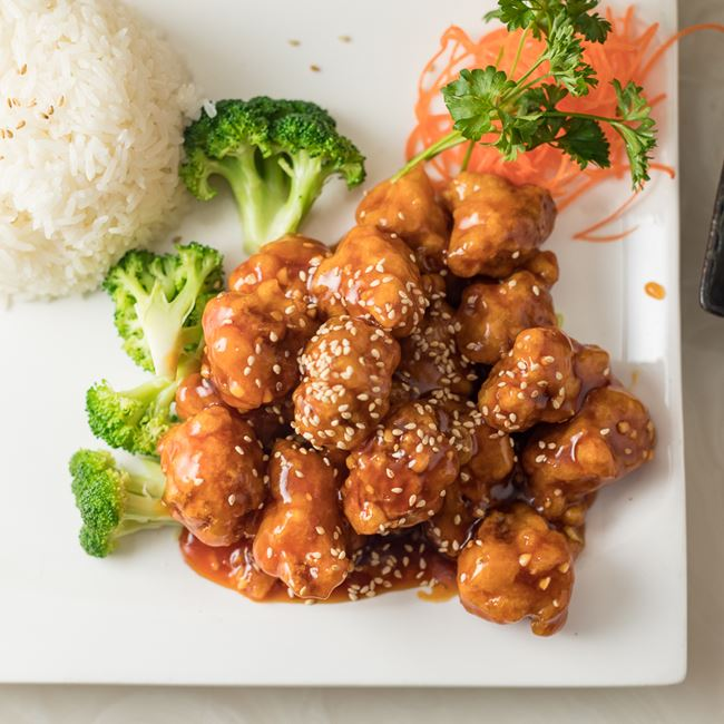 Sesame Chicken at Ninja Japanese and Chinese Restaurant