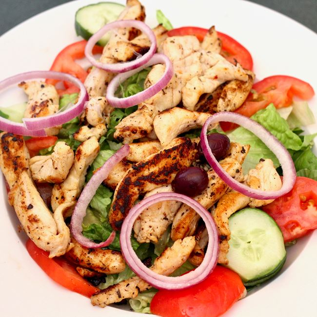 Grilled Chicken Salad at Zorba's Pizza