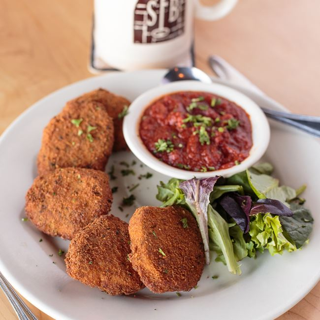 Golden Mozzarella Croquettes  at St. Francis Brewery & Restaurant